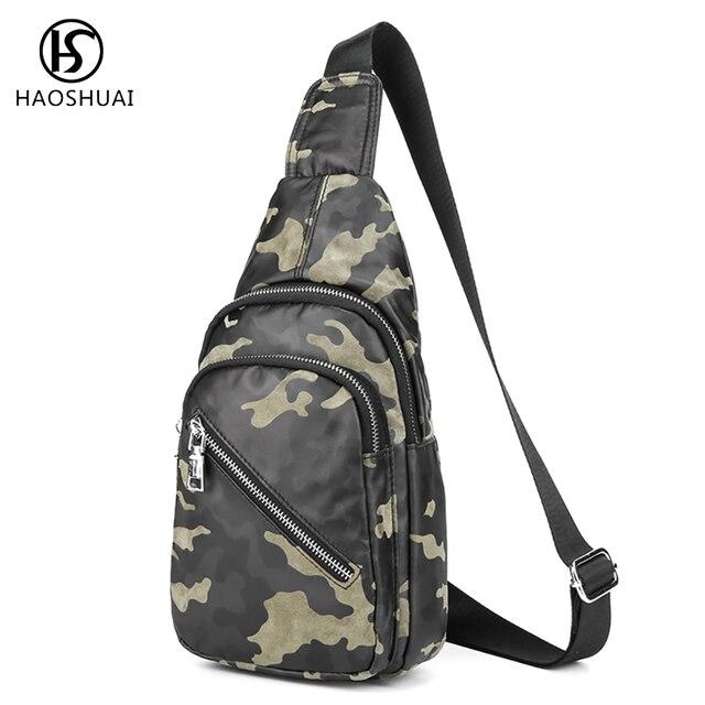 0636d4608ef Men Vintage Waterproof Camouflage Sling Chest Bag Cross Body Shoulder  Messenger Travel Bags New