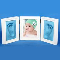 DIY Photo Frame Imprint Soft Clay Cute Baby Footprint Hand Exquisite Print Cast Set Gift