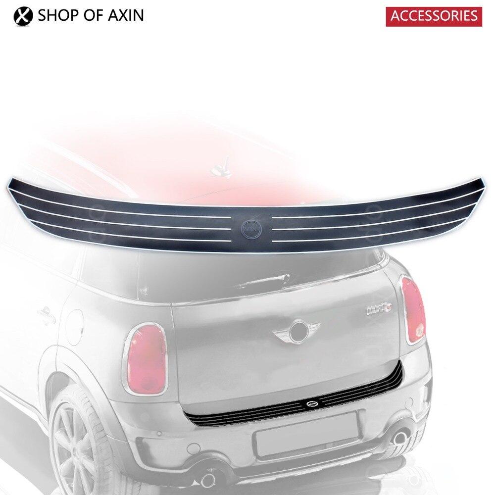 Design of a car bumper - White Rubber Rear Bumper Protector Guard Trim Sticker Pad With Mini Font New Oem For Mini