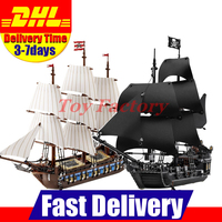 LEPIN 22001 Imperial Warships 16006 Black Pearl Ship Model Building Blocks For Children Pirates Series Toys
