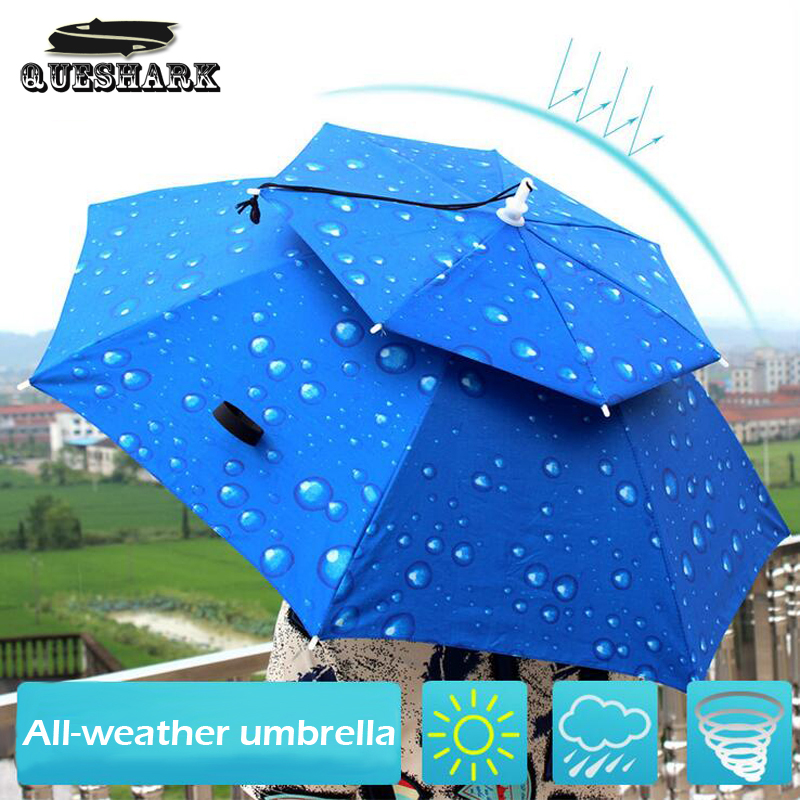 Outdoor Large Double Layer Fishing Umbrella Hat Cycling Hiking Camping Beach Sunshade Sunny Rainy Anti-UV Cap For Men Women Kids