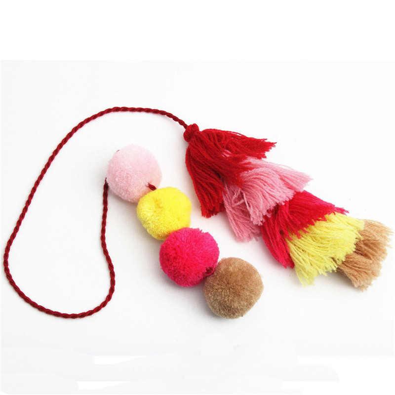 Бренд lzhlq красочные помпоны симпатичный помпон с кисточками помпон для женщин аксессуары для дамских сумочек модные ювелирные изделия сумка украшения кулон 40