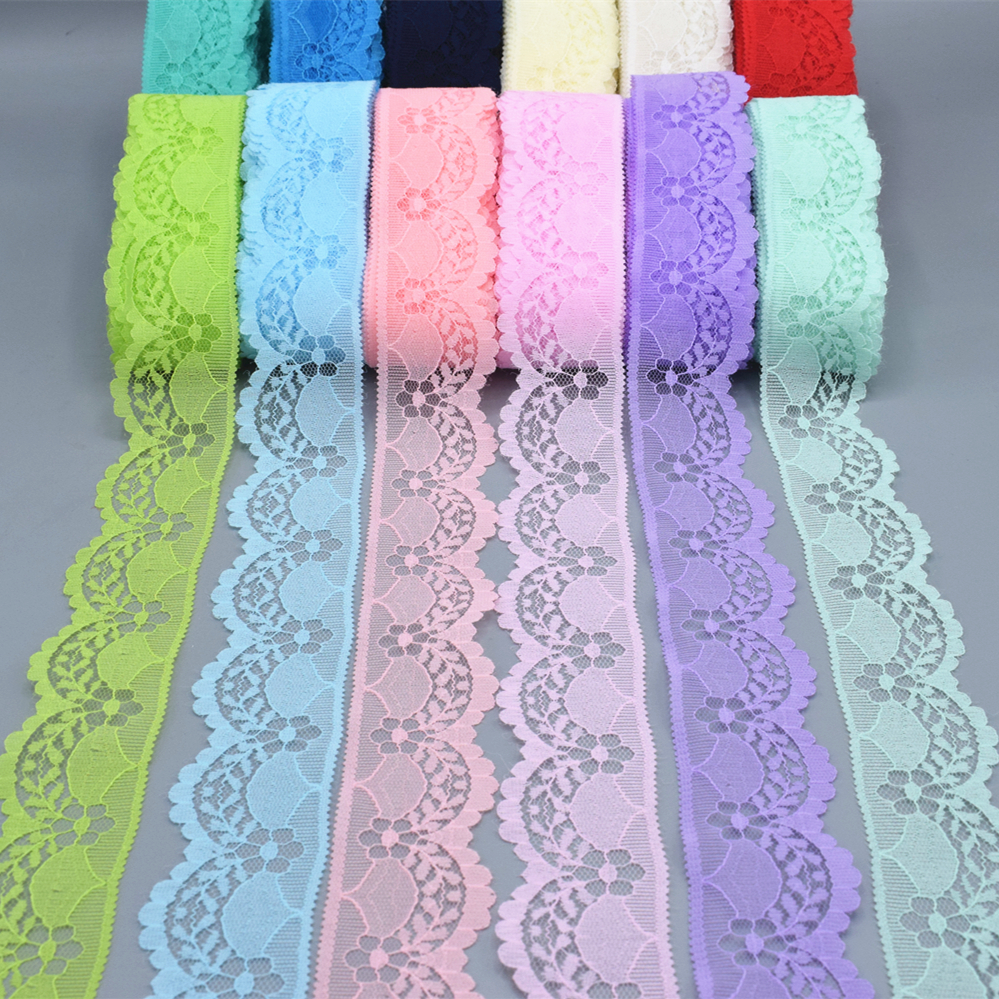 2019 New / Beautiful Lace Embroidery / 5-10 Yards Long 40 Mm Wide DIY Sewing Clothing Lace Ribbon Jewelry Accessories