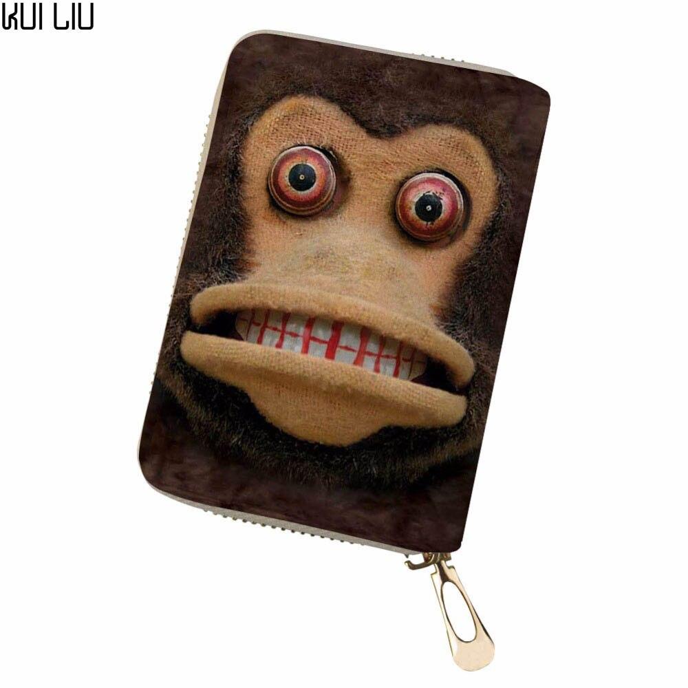 Aangepaste Clutch Walle Red Eyed Aap Vrouwen Mannen Credit Business Bank Kaarten Paspoort Pu Lederen Pokemon Card Sac