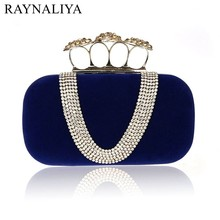 New Punk Style Women's Velvet Handbag V-shaped Diamond Banquet Clutch Purse Evening Bag Top Quality Messenger Bag SFX-A0181 new design gold totes party evening bag fashion womens wallet style chain handbag clutch banquet mini bag sfx a0139