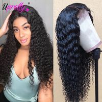 Deep Wave Wig Lace Front Human Hair Wigs 150 180 250 Density Glueless Brazilian Full Lace Wigs With Baby Hair Upretty