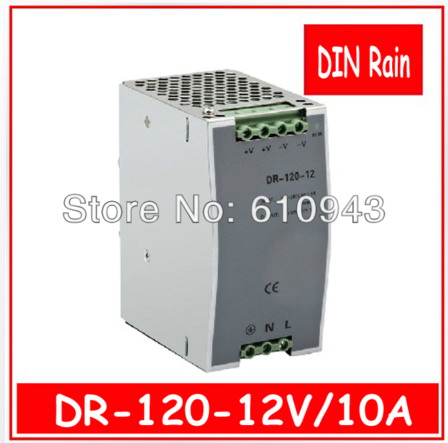 DR-120W-12V 10A   Single Output Switching power supply for LED SMPS AC to DC 1200w 12v 100a adjustable 220v input single output switching power supply for led strip light ac to dc