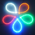 Big Promotion 5 Colors Aquarium Fish Tank 24 LED Bar Flexible Strip Light Decoration Lighting with Power Adapter