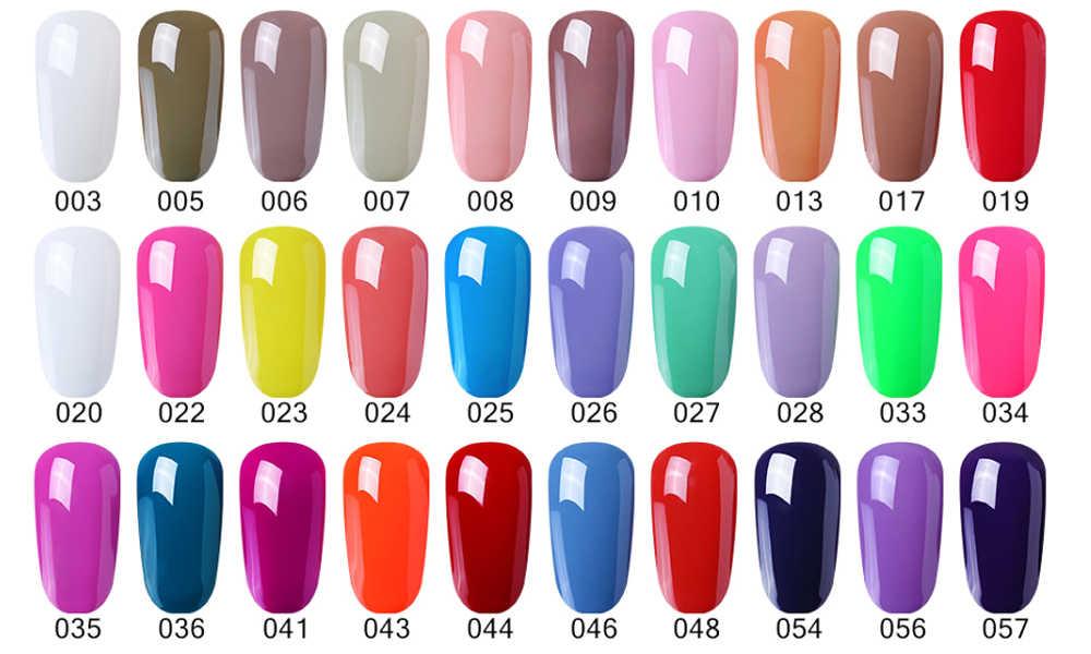 Belen 60 Color Winter Pure Color Gel Nail Polish UV LED Lamp Varnish Semi  Permanant UV Gel Manicure Hybrid Gellak Base Top 8ml