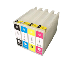 T7551 T7552 T7553 T7554 Refillable Ink Cartridge For Epson Workforce WF-8010DW WF-8090DW WF-8510DW WF-8590DW Printer