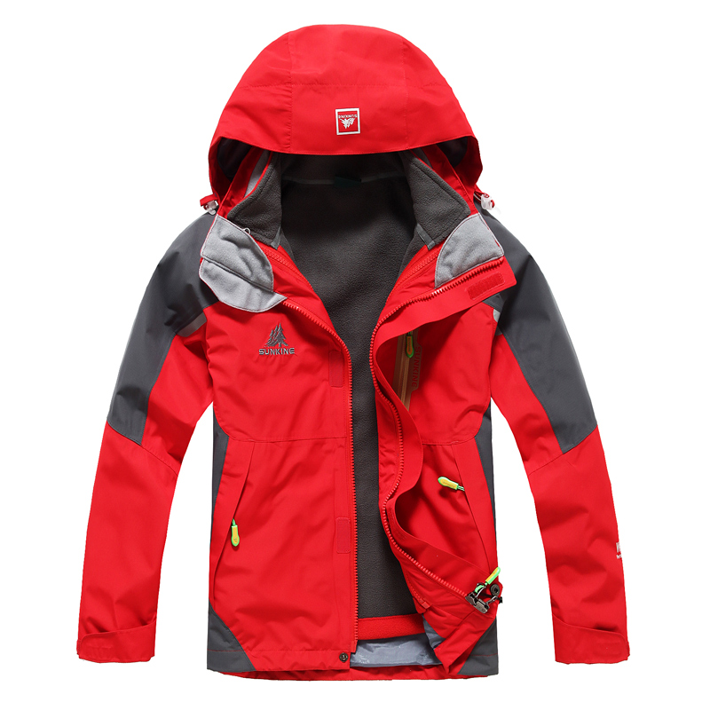 ФОТО Kenoran child outdoor jacket male female child outdoor 3-in-1 set parent-child clothes  =YcfW5