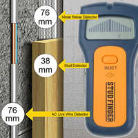 TS79 3 In 1 Metal Detectors Find Metal Wood Studs AC Voltage Live Wire Detect Wall behind Scanner