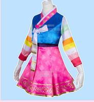 DVA Costume Hot Game OW Dress Adult Woman Silk Korean design Dva Dressed Cosplay Dva Hanbok Skin Halloween Party Prop