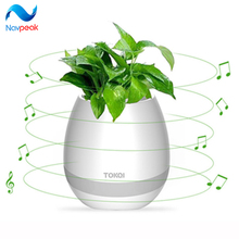Smart Bluetooth Music Speaker With Light Touch Plant Can Sing Night Colorful light for Best Gift 1 pc(China)