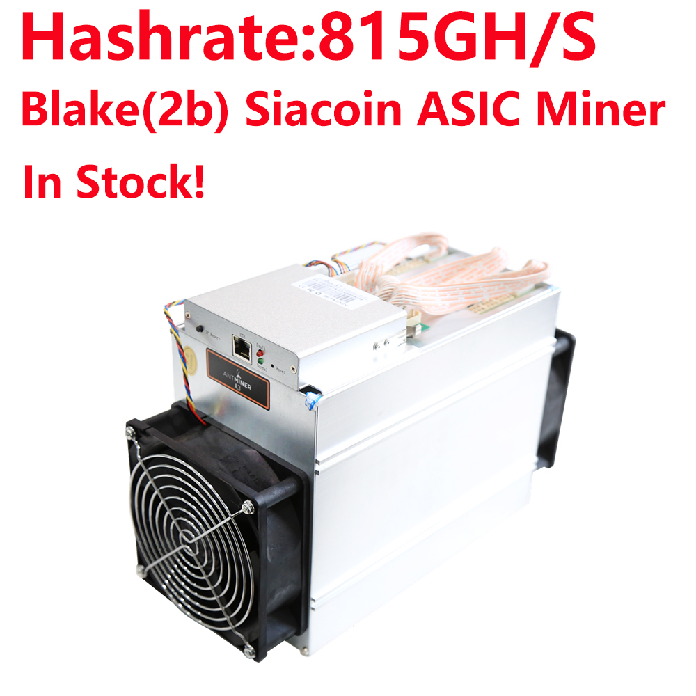 Utilisé Bitmain Antminer A3 815G Blake 2b algorithme Siacoin machine minière mineur sans alimentation en Stock!
