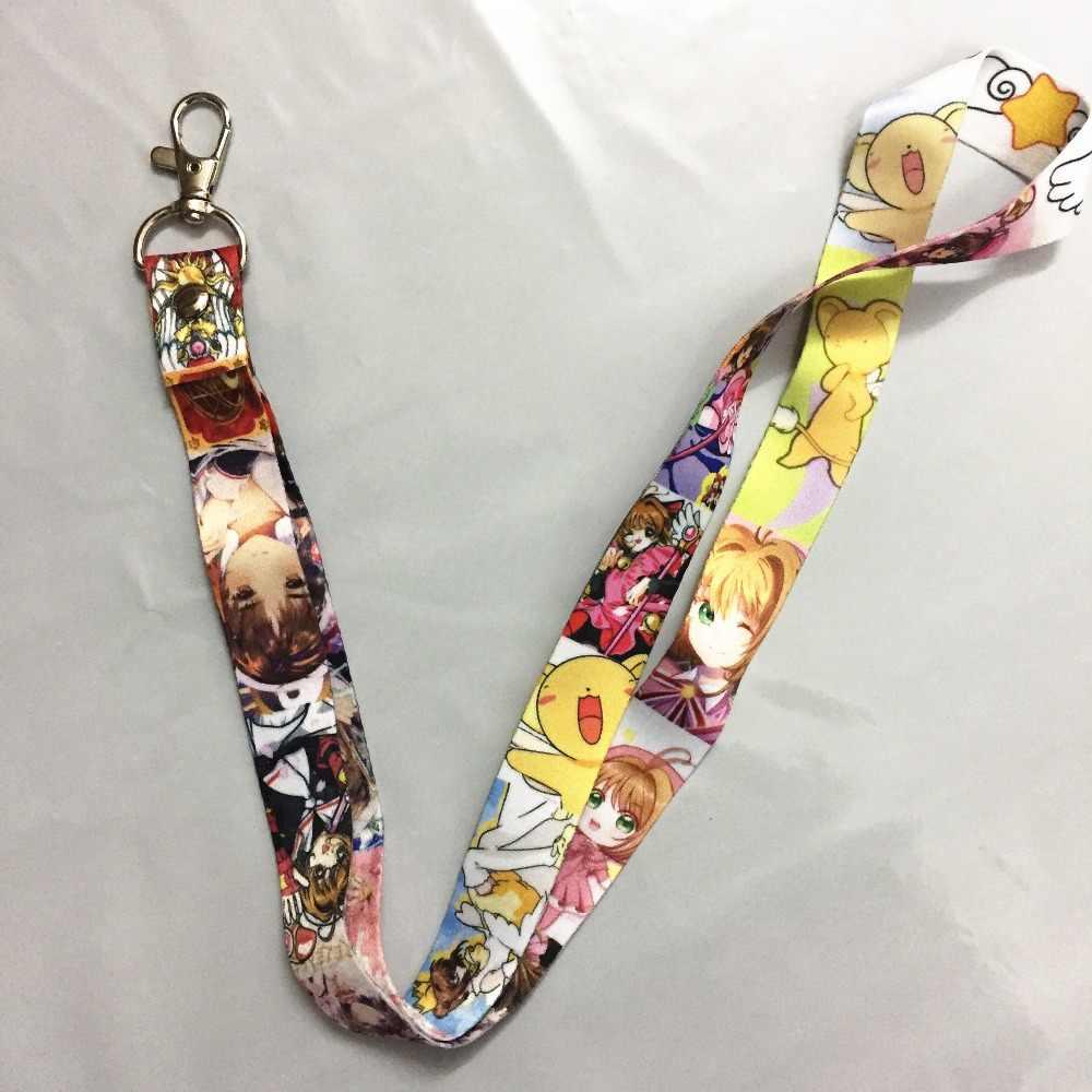 Карта Captor Sakura мобильный шнурок для сотового телефона брелок держатель удостоверения личности костюм сакуры Харуно шеи ремни брелоки Аксессуары для косплея