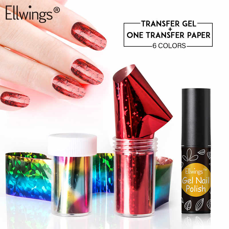 Ellwings autocollants autocollant unique manucure ongle Gel ensemble professionnel acrylique faux Gel colle