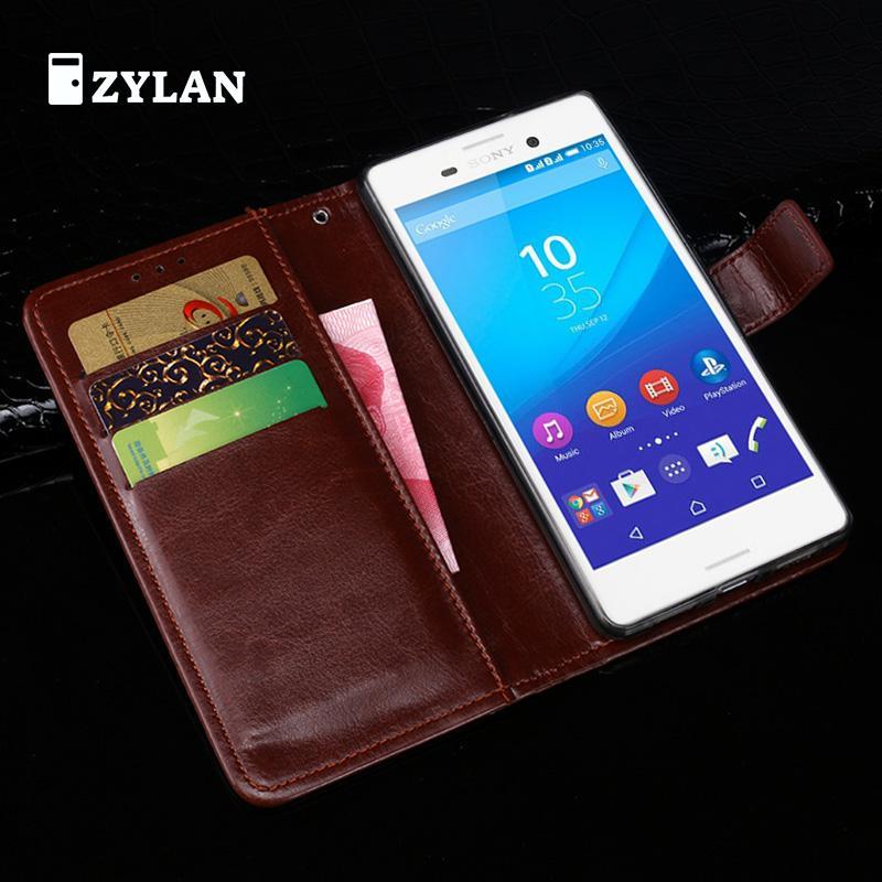ZYLAN Flip Leather Case For Coque Sony Xperia M4 Aqua Cover For Fundas Xperia M4 Aqua Case For Sony M4 Aqua Case E2333 E2353