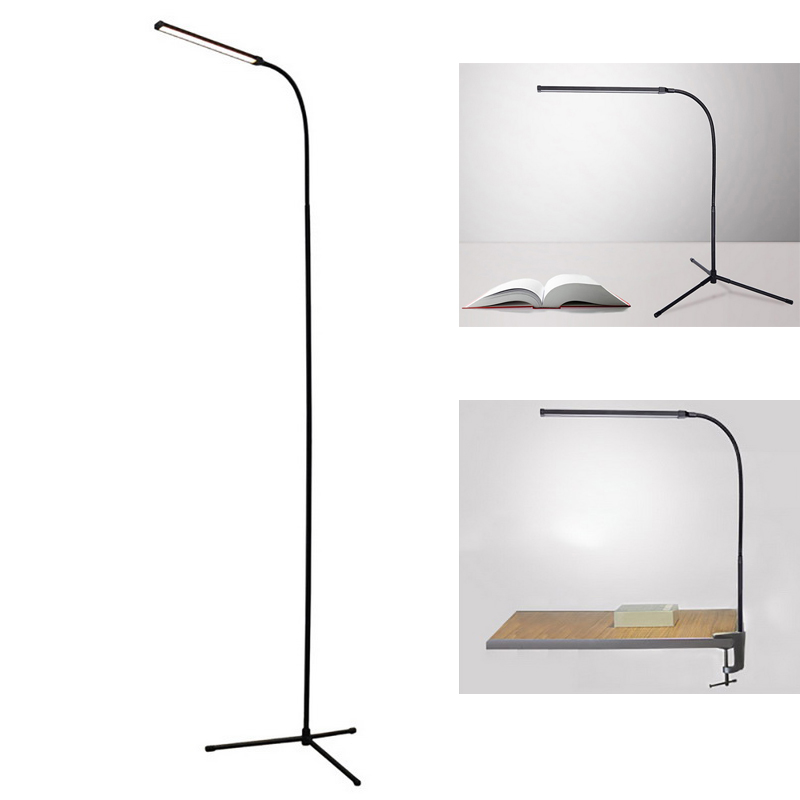 Modern 72 LEDs Floor Lamp 3in1 Multifunction Table Light Clip Light Floor Lamp Tripod Stable Base