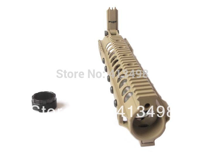 KAC URXIII 5.56 13.5 inch Rail Handguard Picatinny/Weaver Built-in Back-up Sight Dark Earth / Black AR15/M4(DS1717B) - Miracle Outdoors store