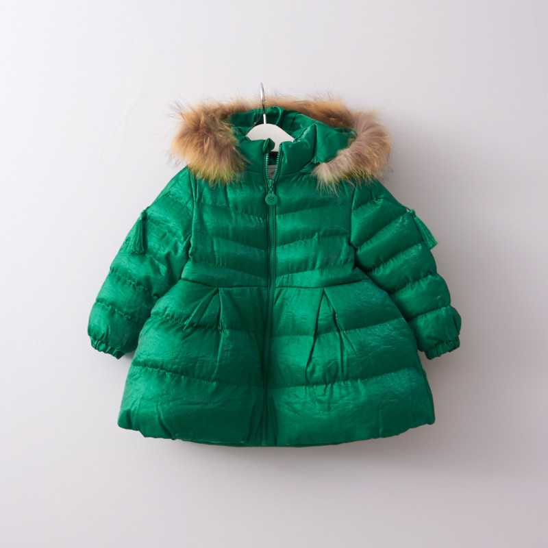 YPG710241 Parkas Girl Coat Winter Jacket For Girls Jacket Toddler Baby Coat Fur Fashion Girl Outerwear Kids Jacket Children winter children s jacket for girl thick long warm coat kid fashion girl colorful fur collar outerwear clothes kids winter parkas