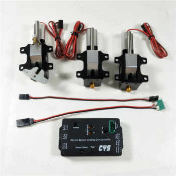 3PC/Set CYS-R2090 90 Degree Electric Rotating Retract Landing Gear For 6.0~12kg Turbojet RC Airplane - DISCOUNT ITEM  0% OFF All Category