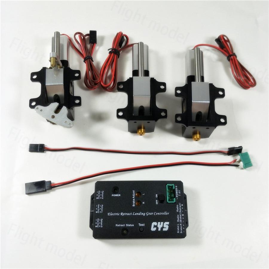 3PC/Set CYS R2090 90 Degree Electric Rotating Retract Landing Gear For 6.0~12kg Turbojet RC Airplane
