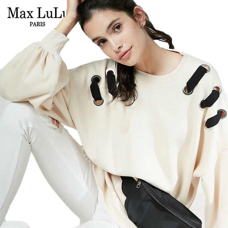 Max LuLu Spain Designer Girls Casual Pullovers Womens Long Sleeve Hoodies Sudadera Mujer Ladies Harajuku Sweatshirt Oversized