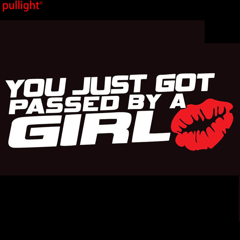 YOU JUST GOT PASSED BY A GIRL License Plate Frame JDM Sticker 3D Funny Racing