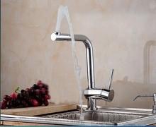 360 градусов вращения 100% латунь chrome polished кухня раковина кран смесители 2015 новый arrive.1pcs/lot