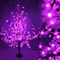 Handmade Artificial LED Cherry Blossom Tree night Light New year Christmas wedding Decoration Lights 150cm 180cm LED tree light