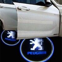 דלת המכונית אור הקרנת לוגו פיג 'ו חיצוניים רכב ל308SW/308CC/308/408/508/3008/RCZ מוזמן דלת אור חם הוביל