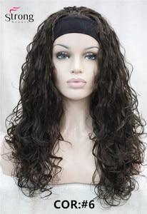 Image 2 - StrongBeauty длинный кудрявый черный коричневый блонд повязка на голову синтетический парик женские парики