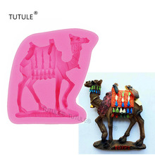 Gadgets- Large desert camels flexible silicone mold for polymer clay, resin, wax, micro-food, candy, cake decorations mold недорого