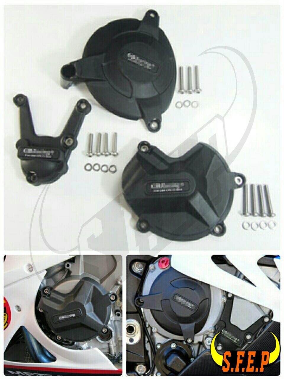 Housse de protection pour moteur moto GB Racing pour BMW S1000RR & S1000R 2009-10-11-12-13-14-15-2016 noir