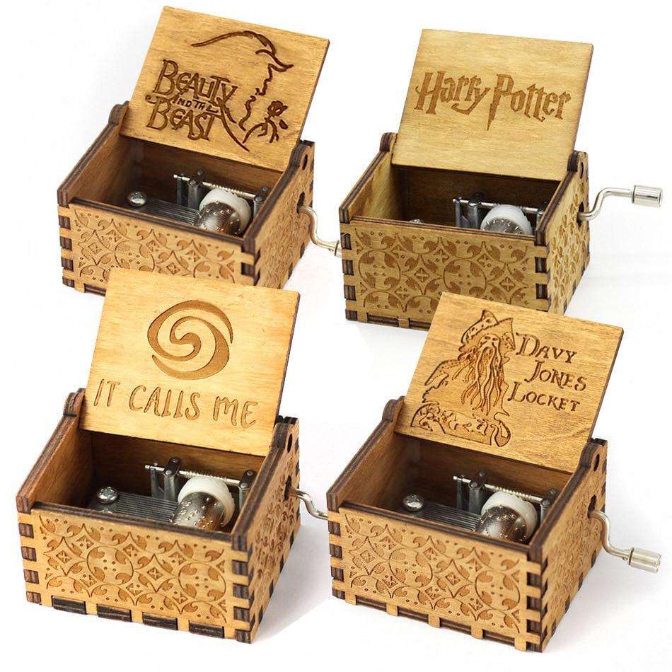 Hand Crank Davy Jones beauty and the beast Music Box Music Island Princess Harry Potter Game Of Thrones Star Wars