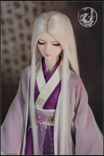 1 3 Bjd wig white heat temperature wire hair easy take care of for gift BJD