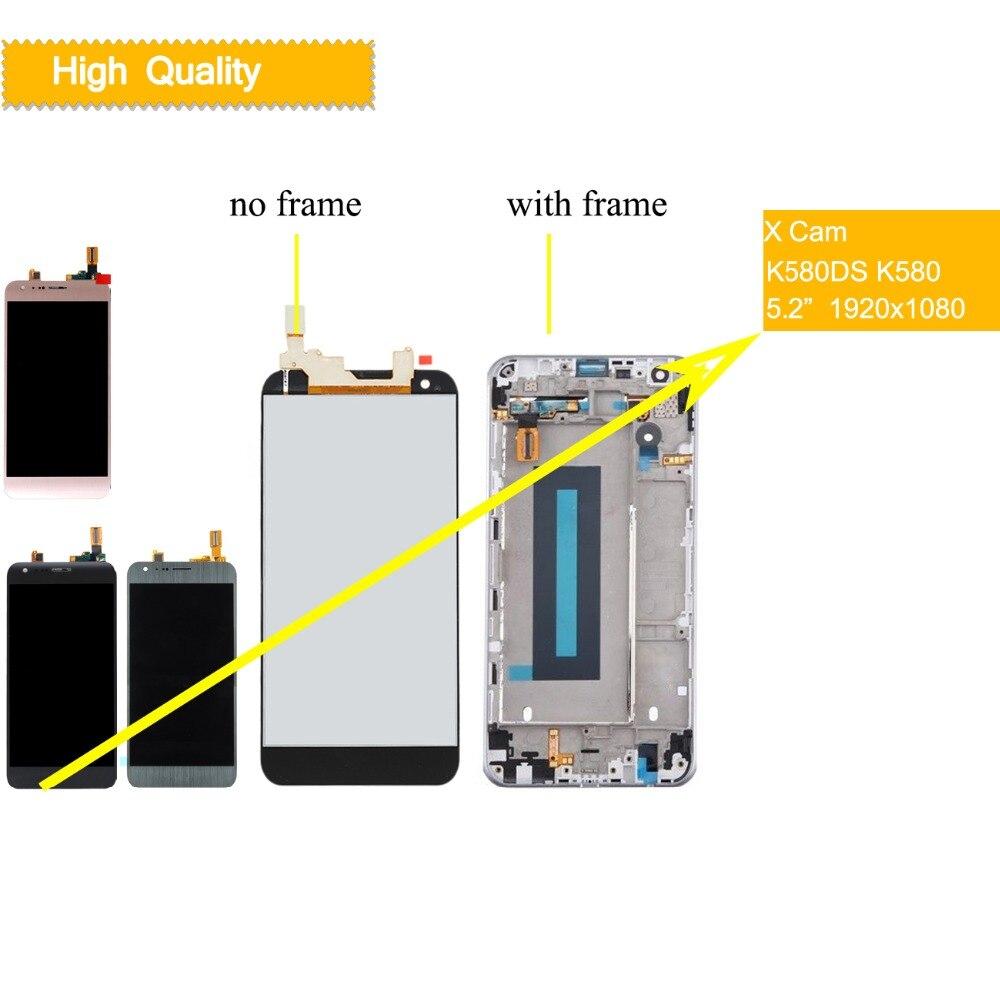 10 pcs/lot LCD pour LG X Cam écran tactile écran LCD numériseur remplacement K580DS K580I K580Y K580 pour LG X CAM Display k580