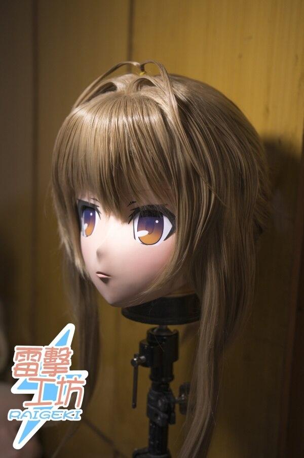 (KM9179) Top Qualità Artigianale Femminile Resina Testa Completa Cosplay Giapponese Gioco di Ruolo Sento Isuzu Anime Kigurumi Maschera Crossdresser bambola
