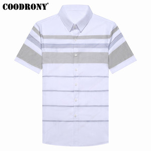 Image 3 - COODRONY kısa kollu gömlek erkekler 2019 yaz serin Casual erkek gömlek Streetwear moda çizgili Camisa Masculina artı boyutu S96036