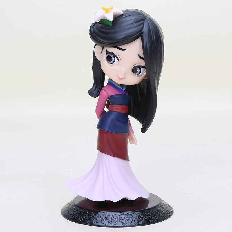 11cm Q Posket Princess Figure Toys Mulan Princess Action Figure Model Collection PVC Toys