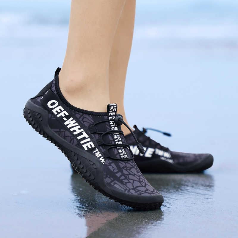 JACKSHIBO גברים מים נעלי סניקרס זכר חוף אקווה שחייה יחף חיצוני ספורט גלישה צלילה Upstream