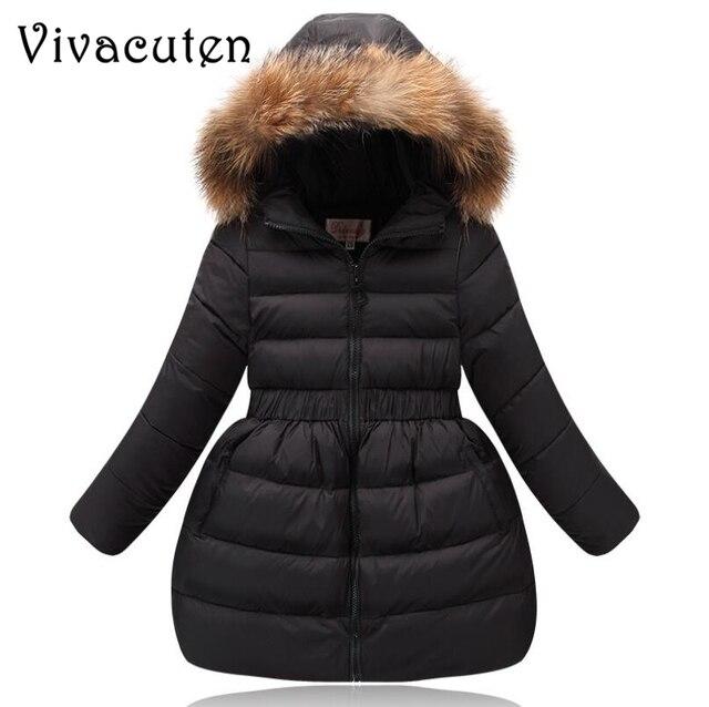 Best Offers Girls Winter Coat Children Clothing Kids Fake Fur Collar Hooded Thick Overcoat Winter Jackets for Girls Warm Outwear Teens Coat