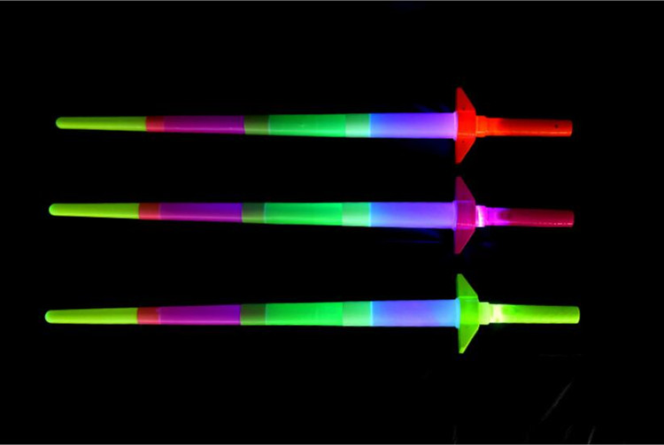 Shiny Cheer Item Telescopic Glow Sticks Light Up Toys for Xmas Bar Music Concert Party Supplies 100pcs Cheap Sale