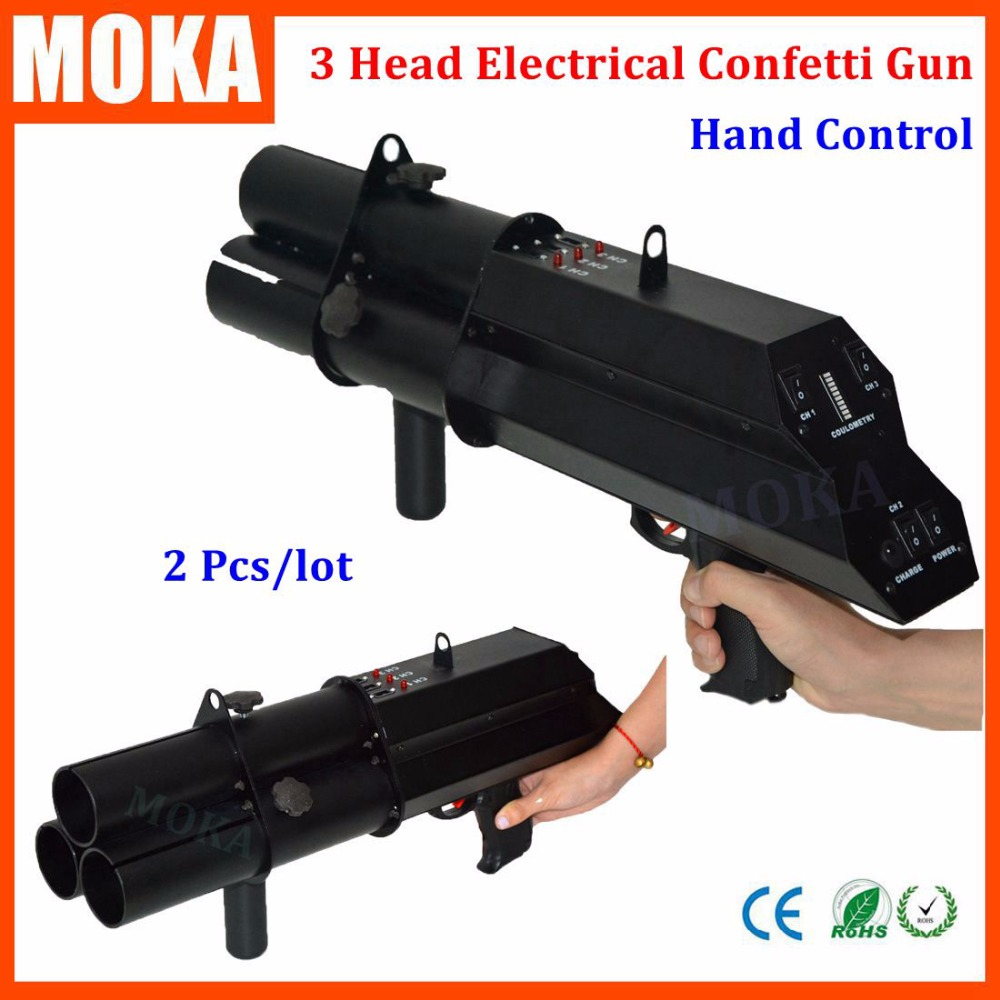 2 Pcs/lot 3 head electrical confetti gun FX confetti machine hand hold electrical battery power stage confetti machine2 Pcs/lot 3 head electrical confetti gun FX confetti machine hand hold electrical battery power stage confetti machine
