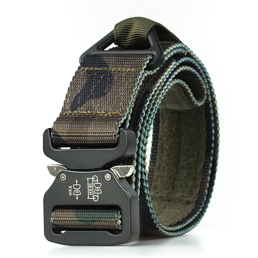 Casual Camouflage Men's Belt Nylon Jeans Belts Tactical Designer Belts Knitted Military Canvas Belt Wide Male Waistband Hunting