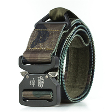 Casual Camouflage Men's Belt Nylon Jeans Belts Tactical Designer Belts Knitted Military Canvas Belt Wide Male Waistband Hunting military tactical nylon shotgun belt camouflage light gray