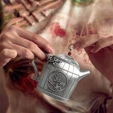 Silver 999 Teapot Teacup Set Hand-made Linglong Teaware Gift