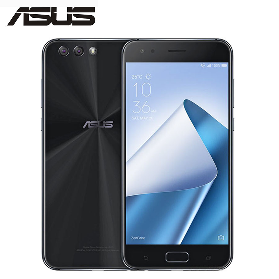 "Global ASUS ZenFone 4 ZE554KL 4G LTE Mobile Phone 4GB RAM 64GB ROM 12MP 5.5""Screen 1080x1920p Snapdragon 630 Octa Core CellPhone"