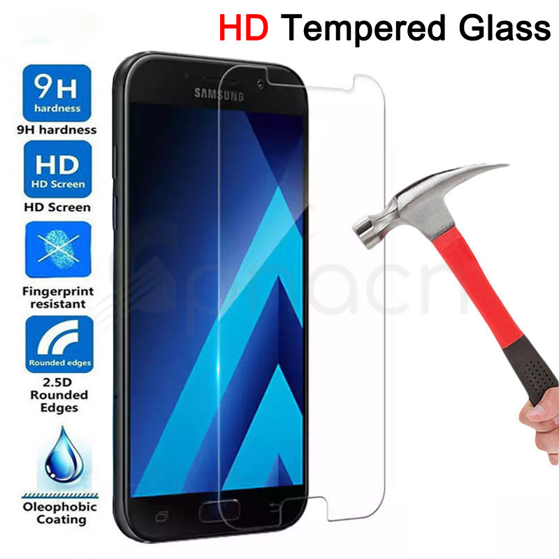 <font><b>9H</b></font> Tempered <font><b>Glass</b></font> For <font><b>Samsung</b></font> <font><b>Galaxy</b></font> <font><b>A3</b></font> A5 A7 J3 J5 J7 2017 <font><b>2016</b></font> 2015 A6 A8 A9 2018 Screen Protector Protective <font><b>Glass</b></font> Film Case image